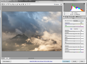 Screenshot di Camera_RAW, Photoshop