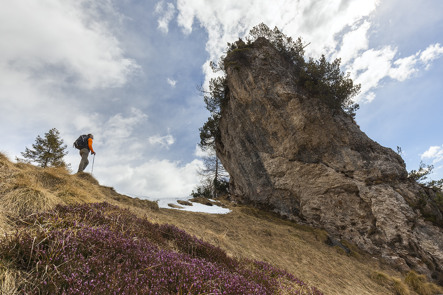 Al cospetto del Sass di Peralòra nei Monti del Sole settore meridionale