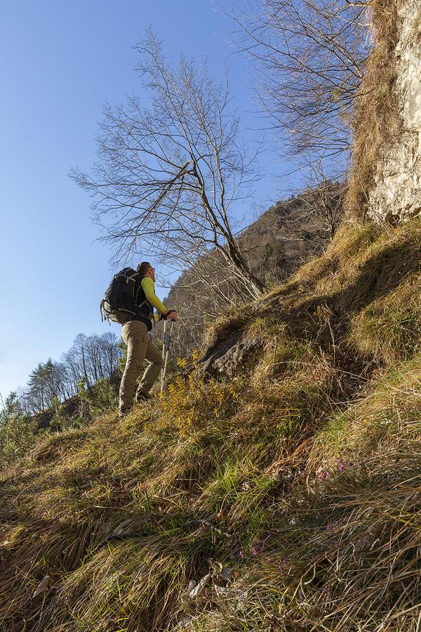 Oltre la cengia prima del Col de La Stua