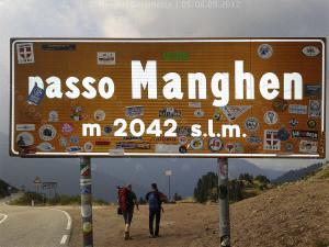 In partenza dal passo Manghen