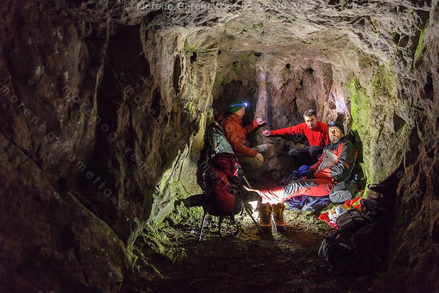 La grotta dove abbiamo trovato riparo