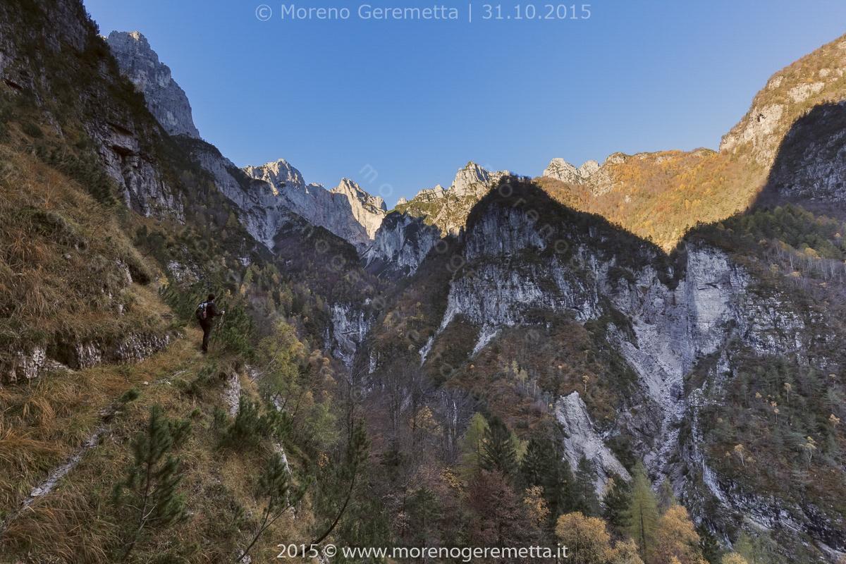 Sentieri sempre sul fio del baratro - Val Pegolèra - Monti del Sole