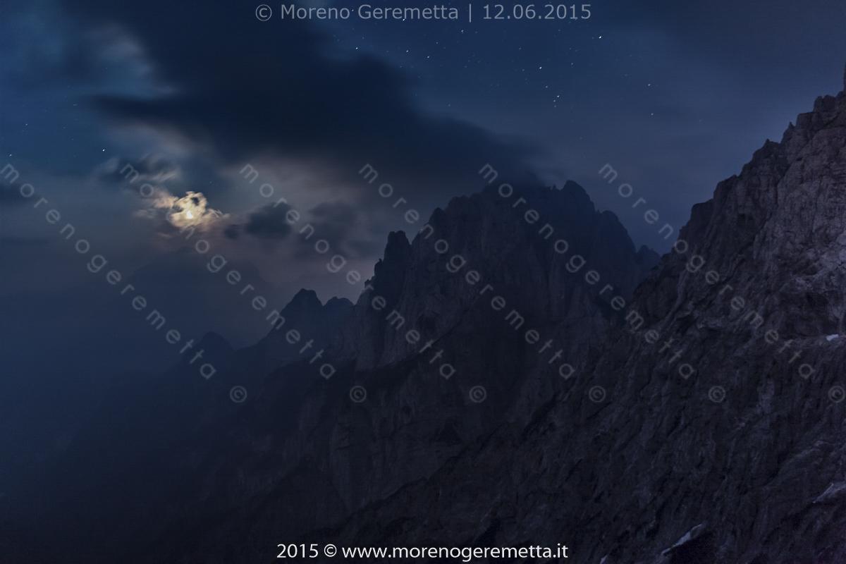 Notturna verso la val Pégolera