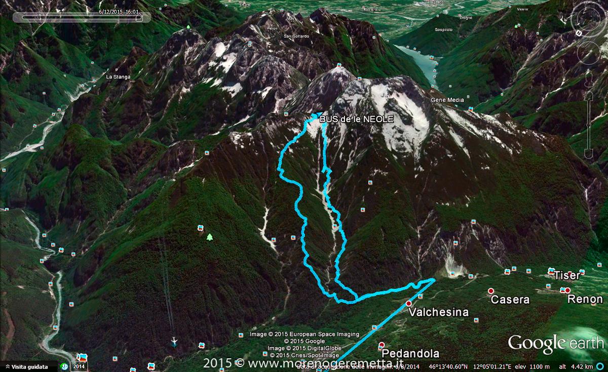 Traccia GPS dell'itinerario