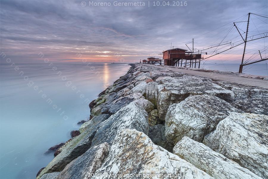 Chioggia - Sottomarina. Il continuo mutare dei colori all' alba