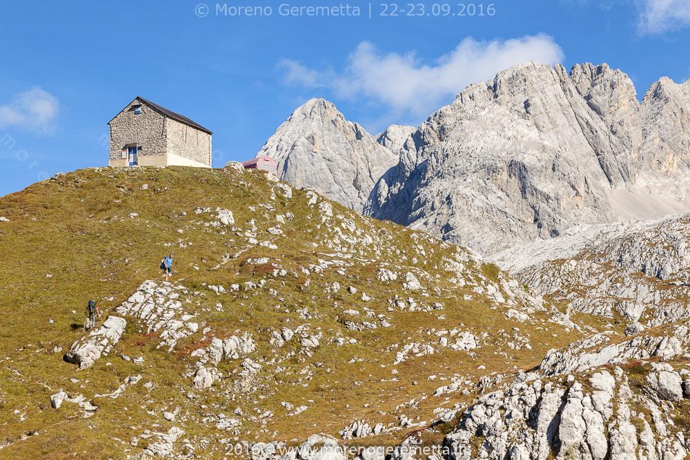Arrivo al bivacco Tiziano | Marmarole