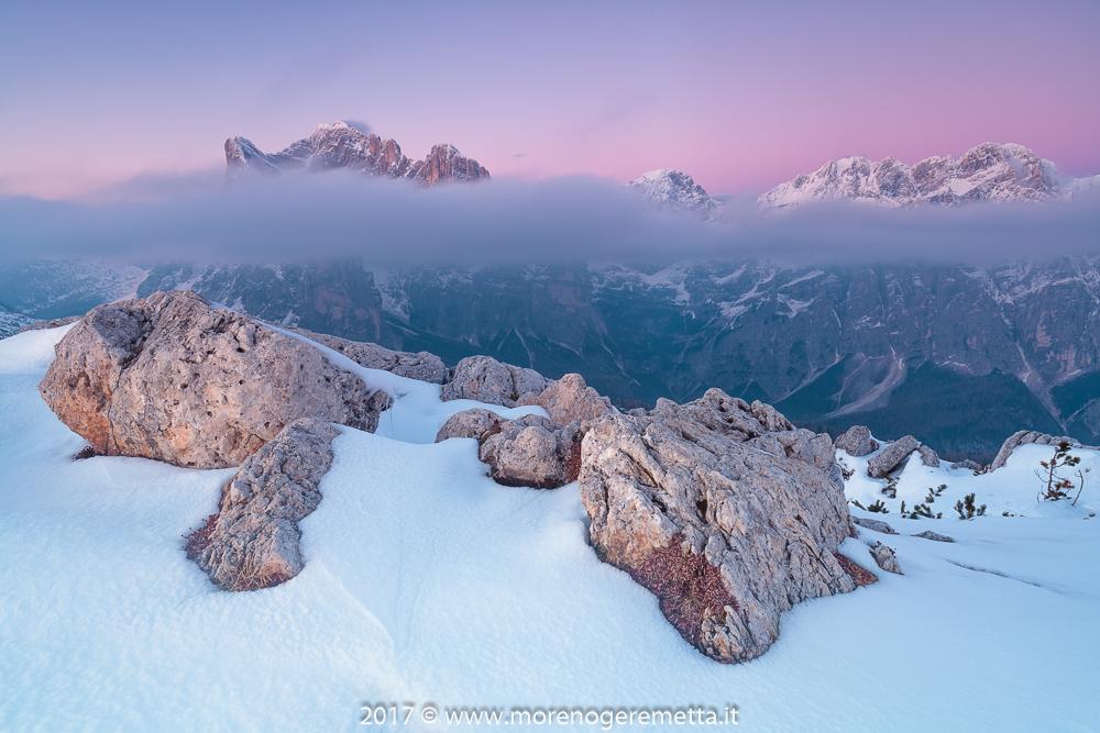 Cintura di Venere | Cielo rosa dalla Palazza Alta | Dolomiti