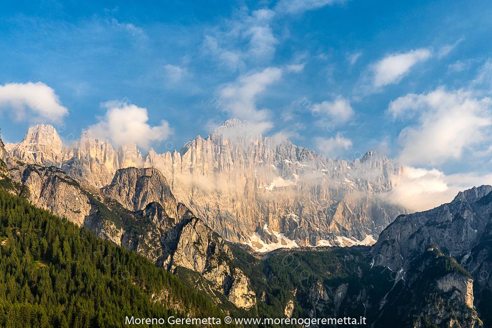 Monte Civetta visto dai Piani di Pezzè - Alleghe - Dolomiti