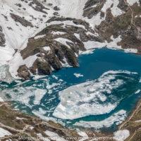 Vista dall'alto sul lago del Coldai - Civetta - Dolomiti