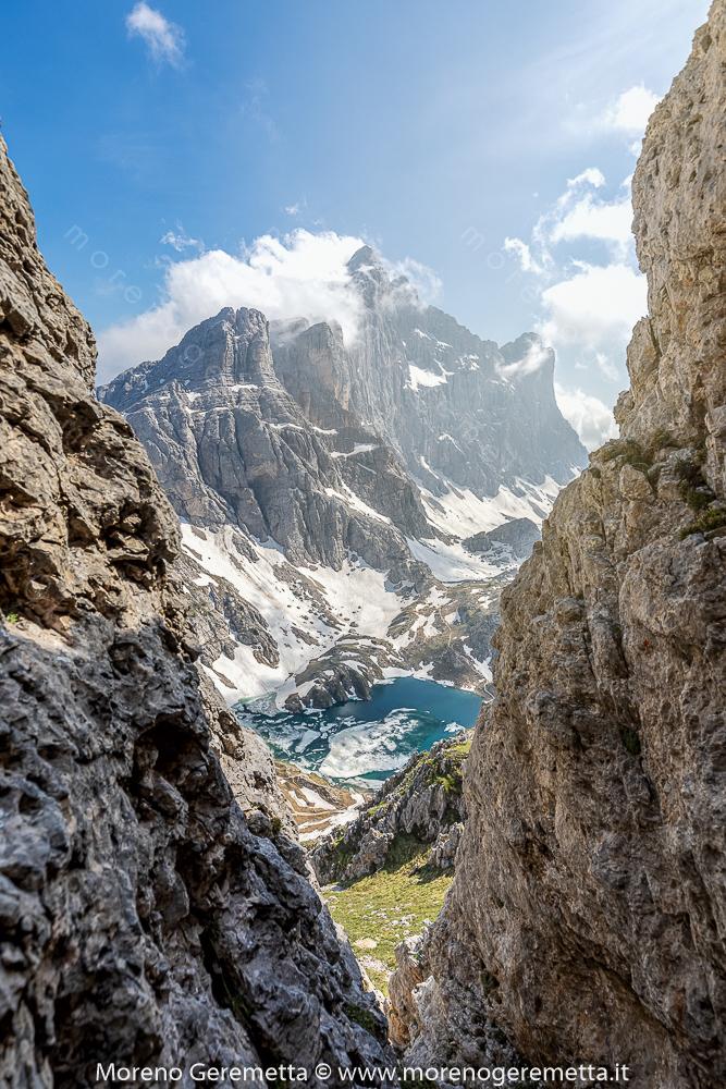 Civetta e lago del Coldai in cornice - Dolomiti