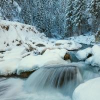 Torrente Cordevole nel gelo